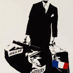 Blek le Rat - Man Who Walks Through Walls - 2007 - Screenprint - 72 cm x 52 cm - 29 inch x 21 inch - Ministry of Walls Street Art Gallery - The Urban Art Broker - Shop