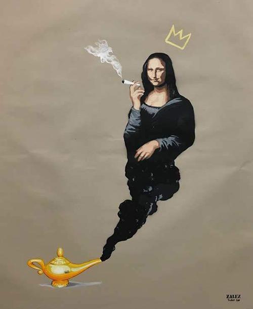 Zalez - Smoking Mona Lisa- Ministry of Walls