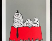 Otto Schade - Snoopy - Grey - 2018 - 3 layers Screen Print - 42 x 51 cm - 17 x 20 inch - Edition 25 - Ministry of Walls Street Art Gallery and Shop - The Urban Art Broker