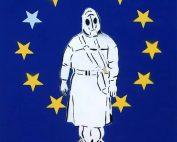 c.mank - Aussenansichten #EU #2 - 2018 - Acrylics on Canvas - 60 x 50 cm - 24 x 20 inch - Ministry of Walls Street Art Gallery Cologne - The Urban Art Broker - Shop