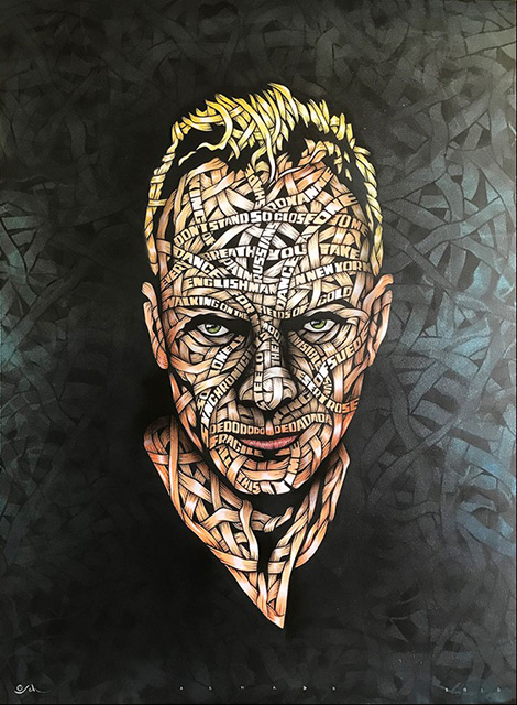 Otto Schade - Sting - 2018 - Stencil Spray Paint mixed technique on Canvas - 122 cm x 91 cm - 48 inch x 36 inch - Ministry of Walls Street Art Gallery - The Urban Art Broker - Shop